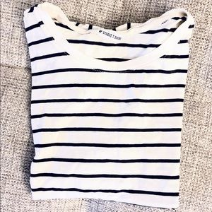 Nordstrom BP Black Striped T-shirt Top Small S XS